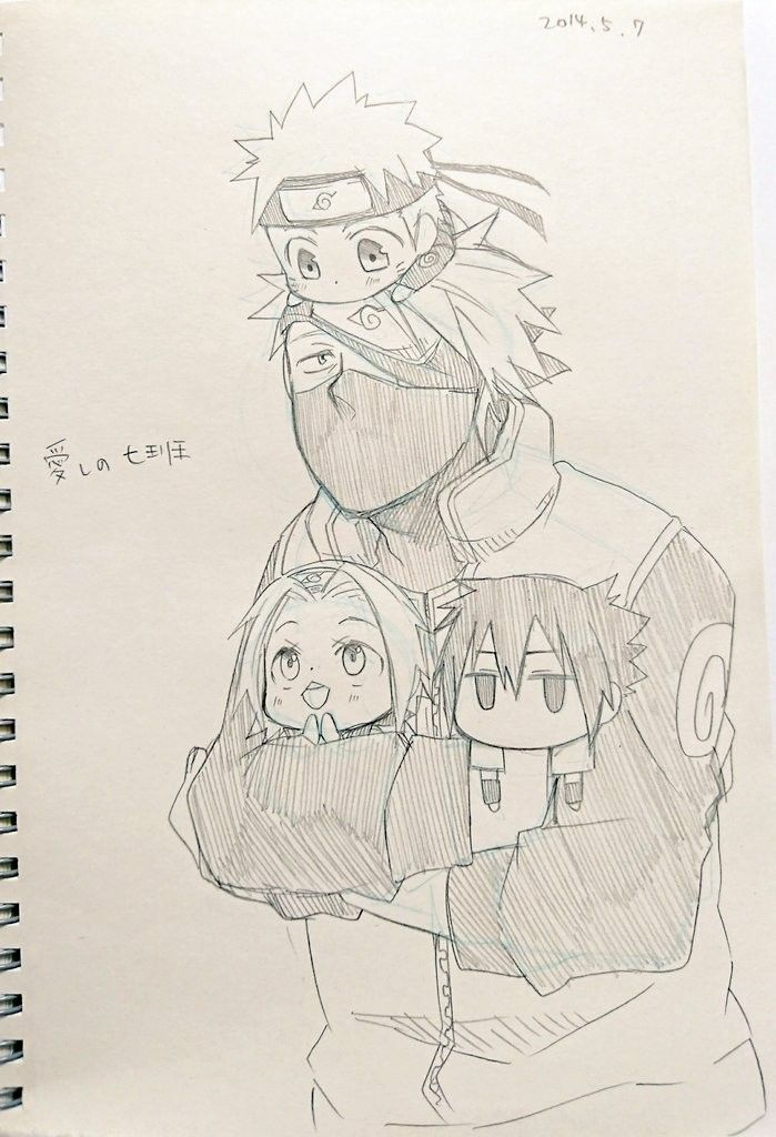 Kakashi-Sensei Taking Care Of Naruto, Sakura & Sasuke avec Coloriage Naruto Et Kakashi