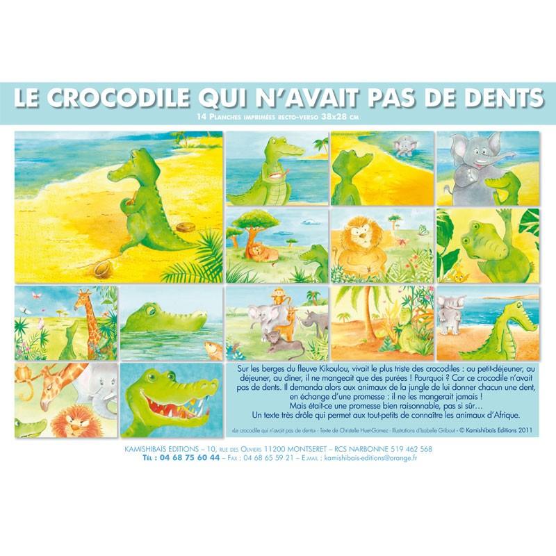 Kamishibai Le Crocodile Qui N'Avait Pas De Dents Pour avec Y Avait Des Gros Crocodiles Paroles
