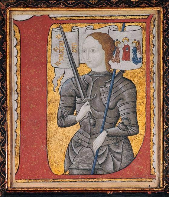 Kart À Voir: N°093 Portrait De Jeanne D'Arc (1450) intérieur Dessin Magique Ste Jeanne D'Arc