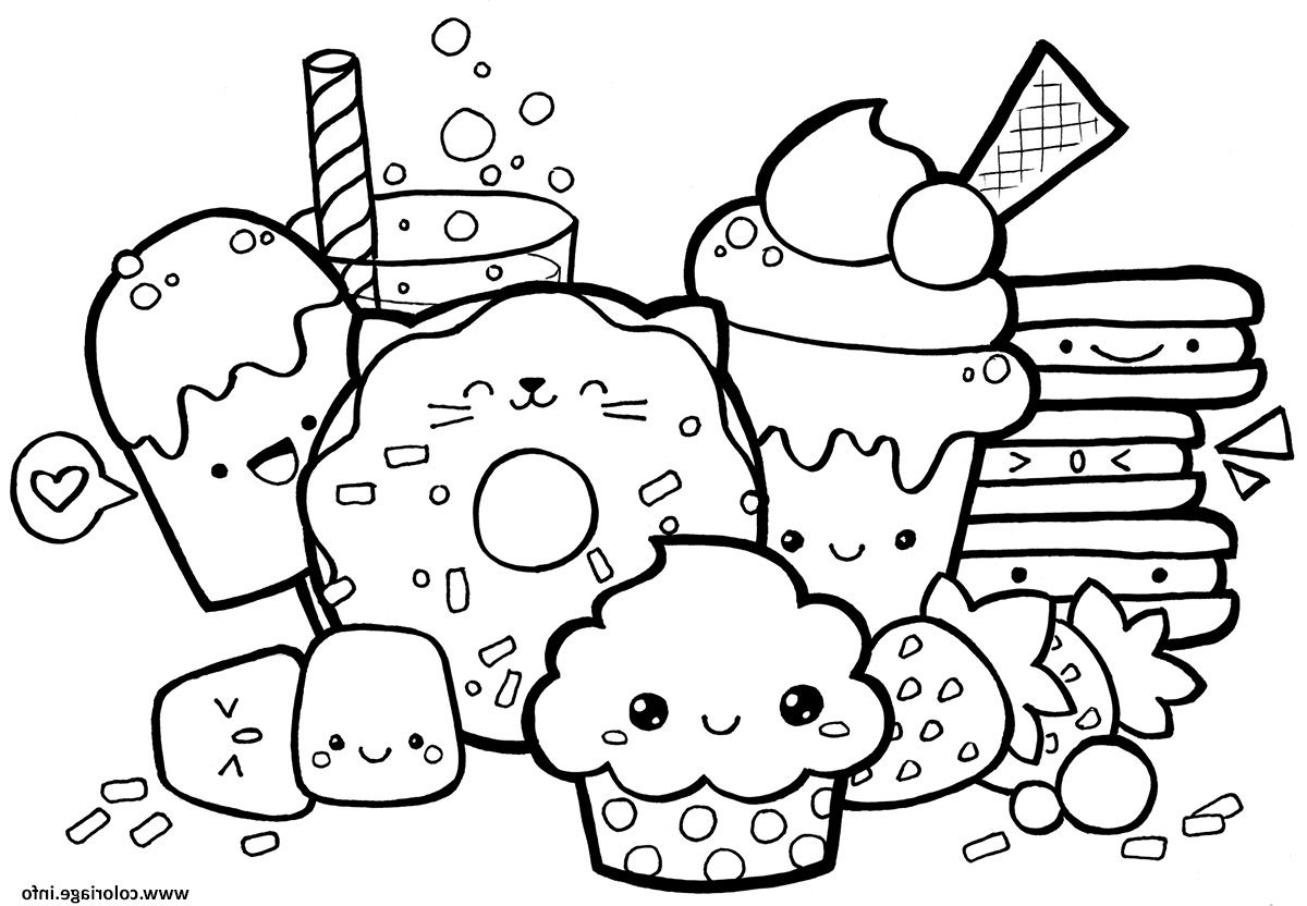 Kawaii Food Coloriage Dessin #Dessinkawaii # à Coloriage A Imprimer Kawaii