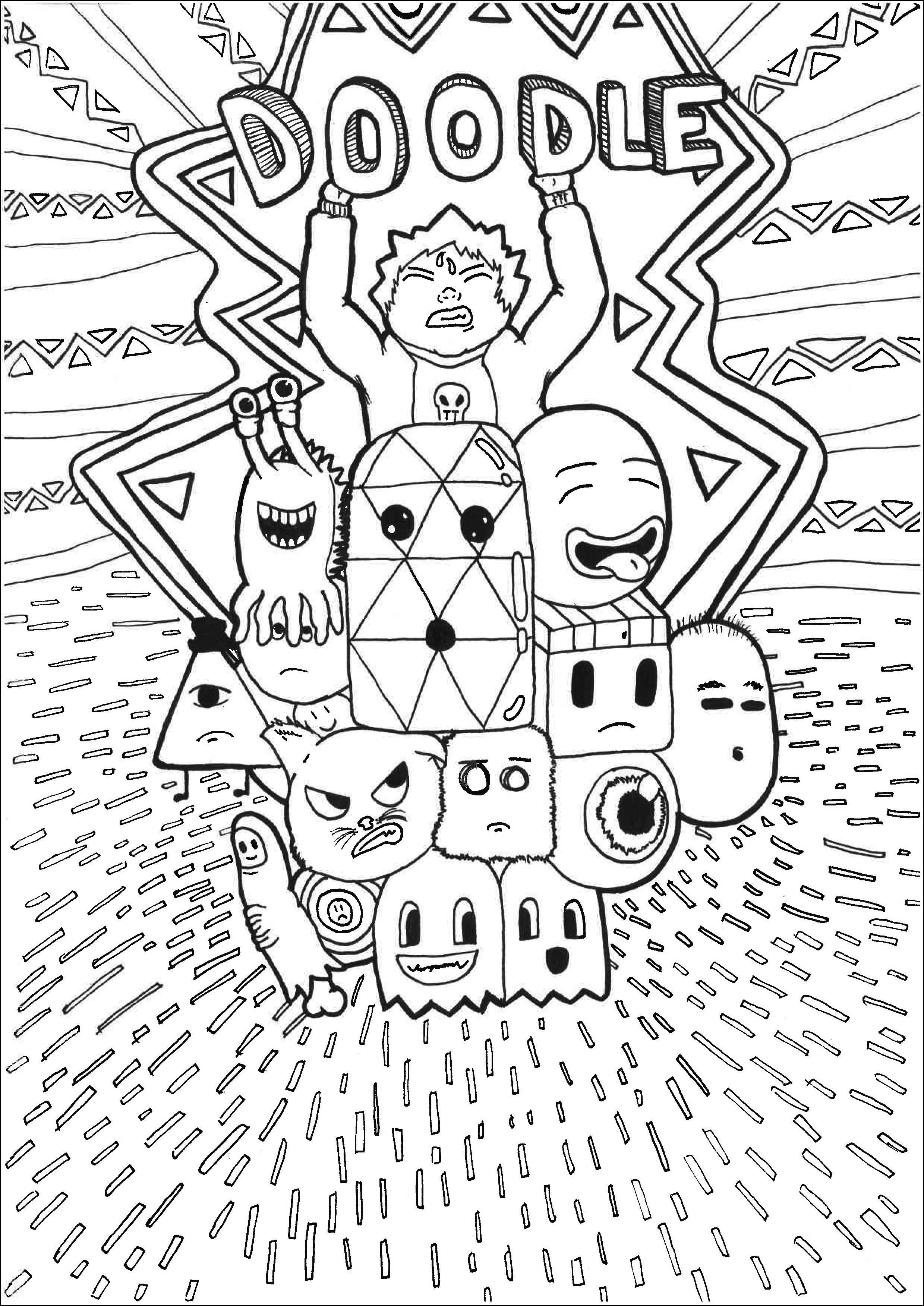 Kawaii Personnages Allan - Coloriage Kawaii - Coloriages concernant Coloriage Kawaii