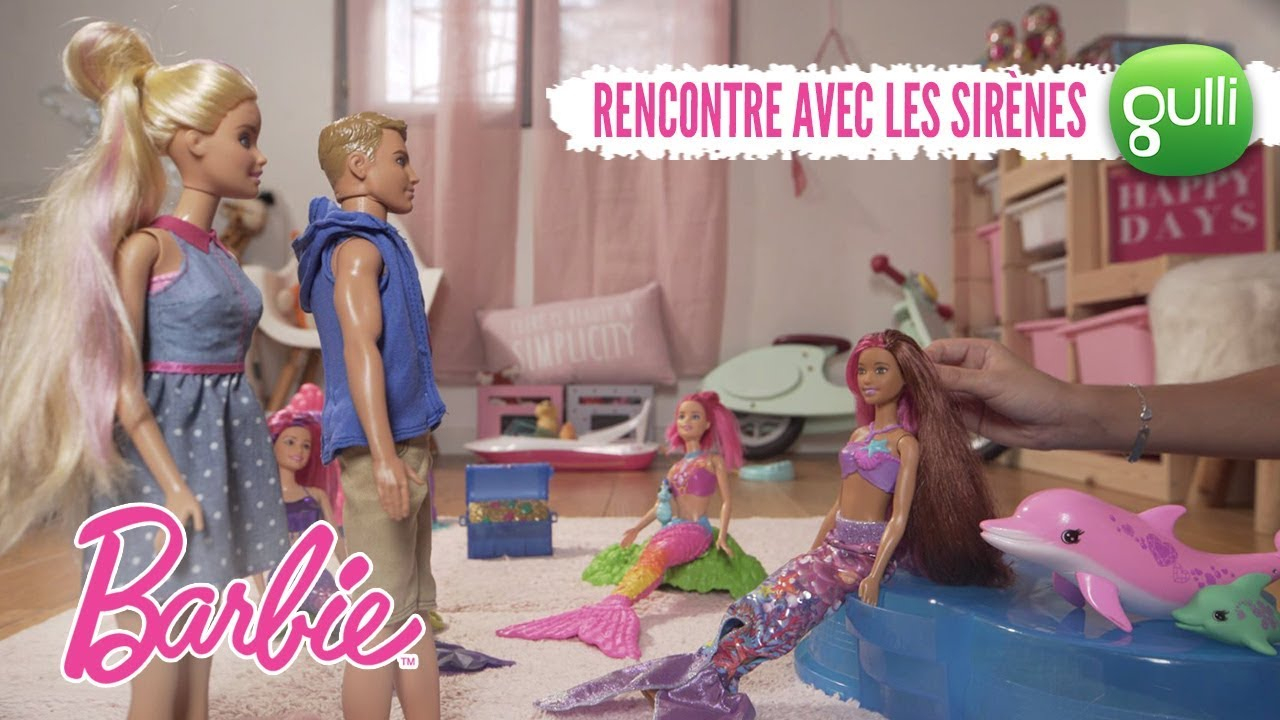 Ken Et Barbie Rencontrent Les Sirènes ! Barbie Raconte Les destiné Barbie Sirene A La Plage Translation
