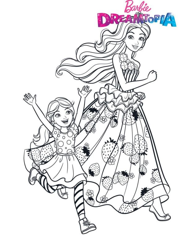 Kids-N-Fun.de | Malvorlage Barbie Dreamtopia Barbie Chelsea à Coloriage De Barbie À Imprimer