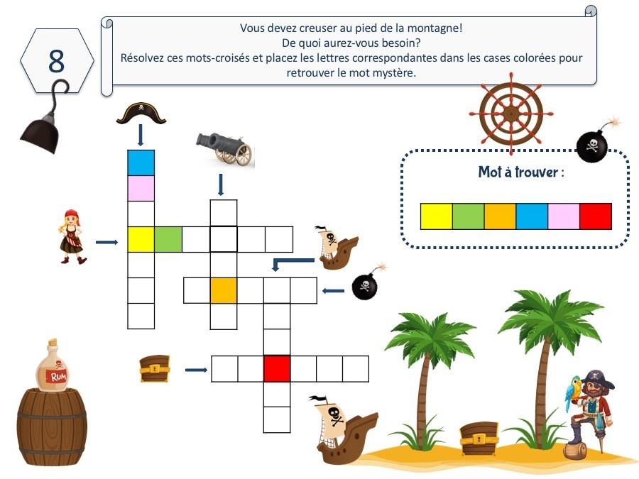 Kit De Chasse Au Trésor Pirate (8 Ans Et +) - Un dedans Chasse Au Tresors Theme Des Pirates