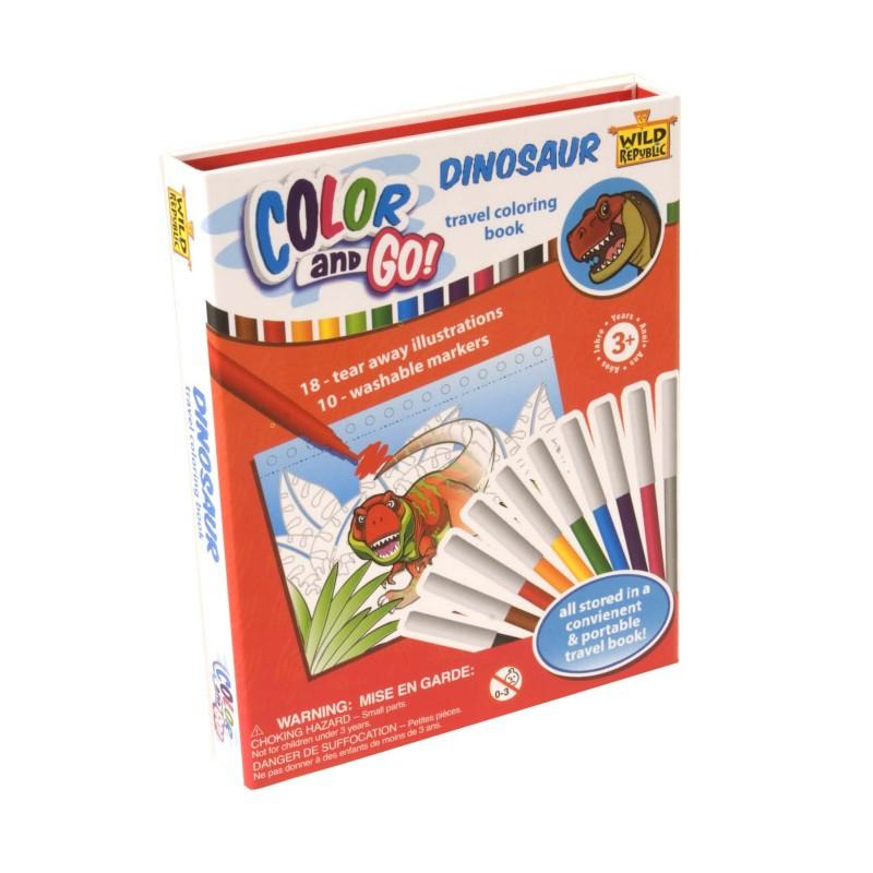 Kit De Coloriage Dinosaure Color And Go Dinosaur - Wild pour Kit Coloriage Enfant