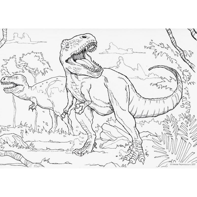 """Kit De Décalcomanies Enfants Westair """"L'Attaque Du T-Rex"""" pour Coloriage Dinosaure Tyrannosaure"""