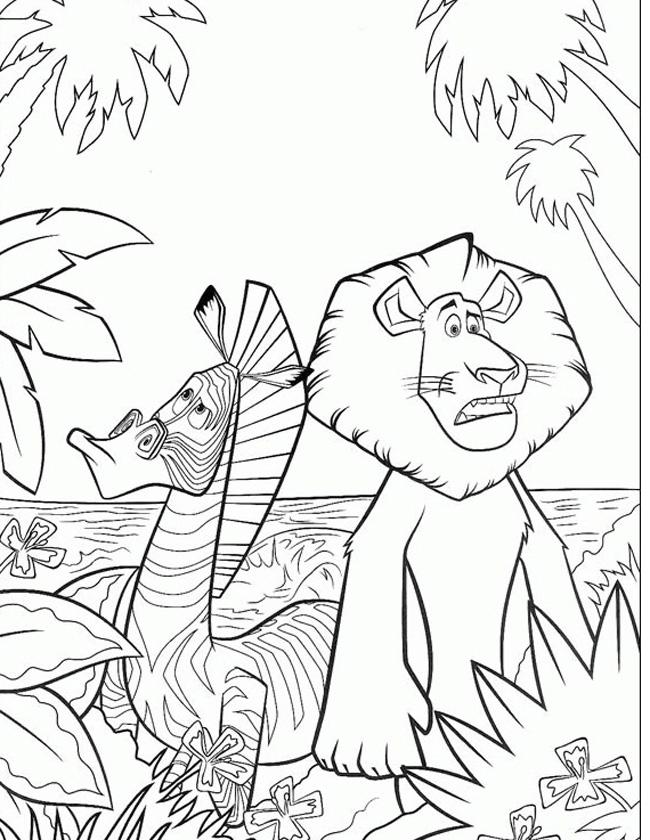 Kleuren.nu - Verdwaald In De Jungle Van Madagascar Kleurplaten intérieur Coloriage Zebre A Imprimer Gratuit