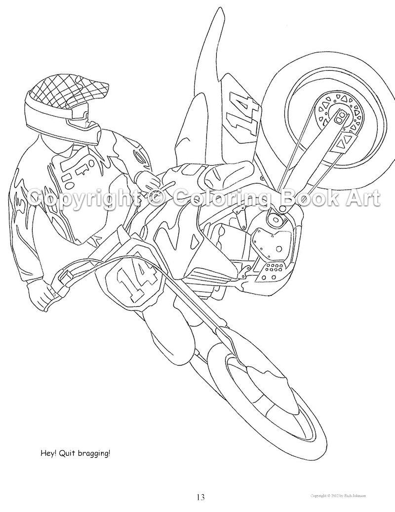 Kleurplaat Motorcross Kleurplaat Motorcross Afb 24762 avec Moto Cross À Colorier