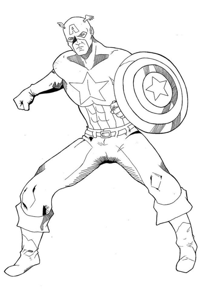 Kleurplaten Flash Dc Desenhos Para Colorir E Pintar Do destiné Coloriage Captain America