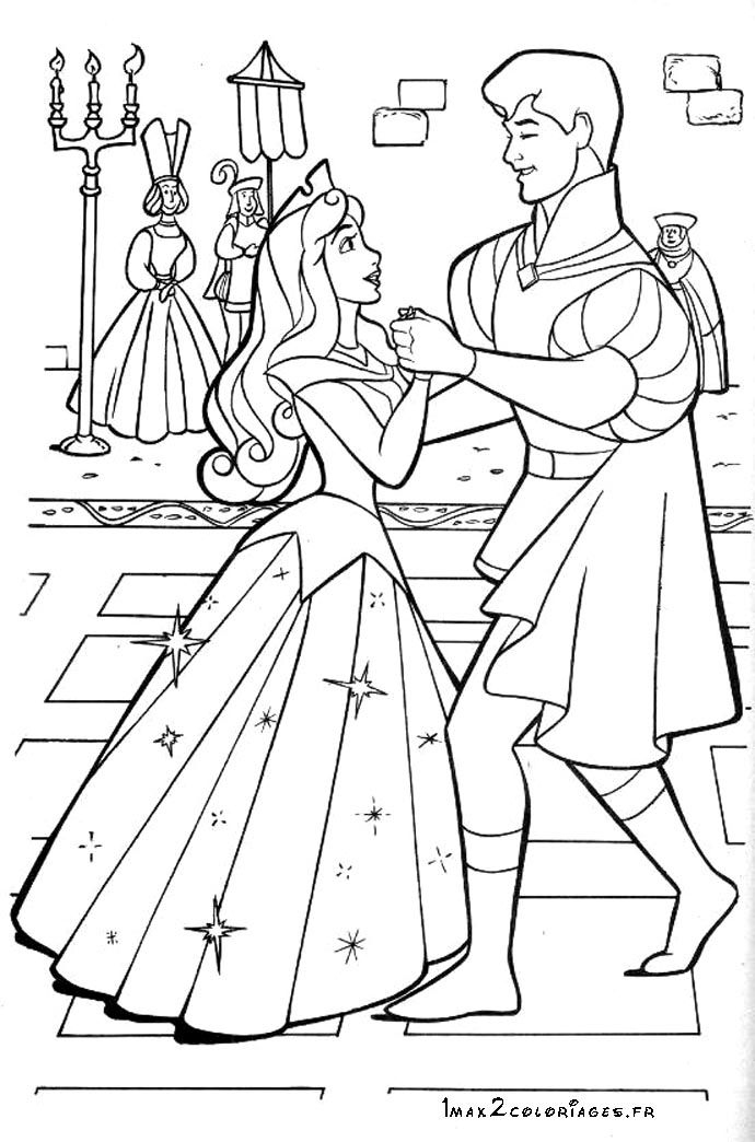 La Belle Au Bois Dormant | Sleeping Beauty Coloring Pages concernant Coloriage De Violetta À Imprimer