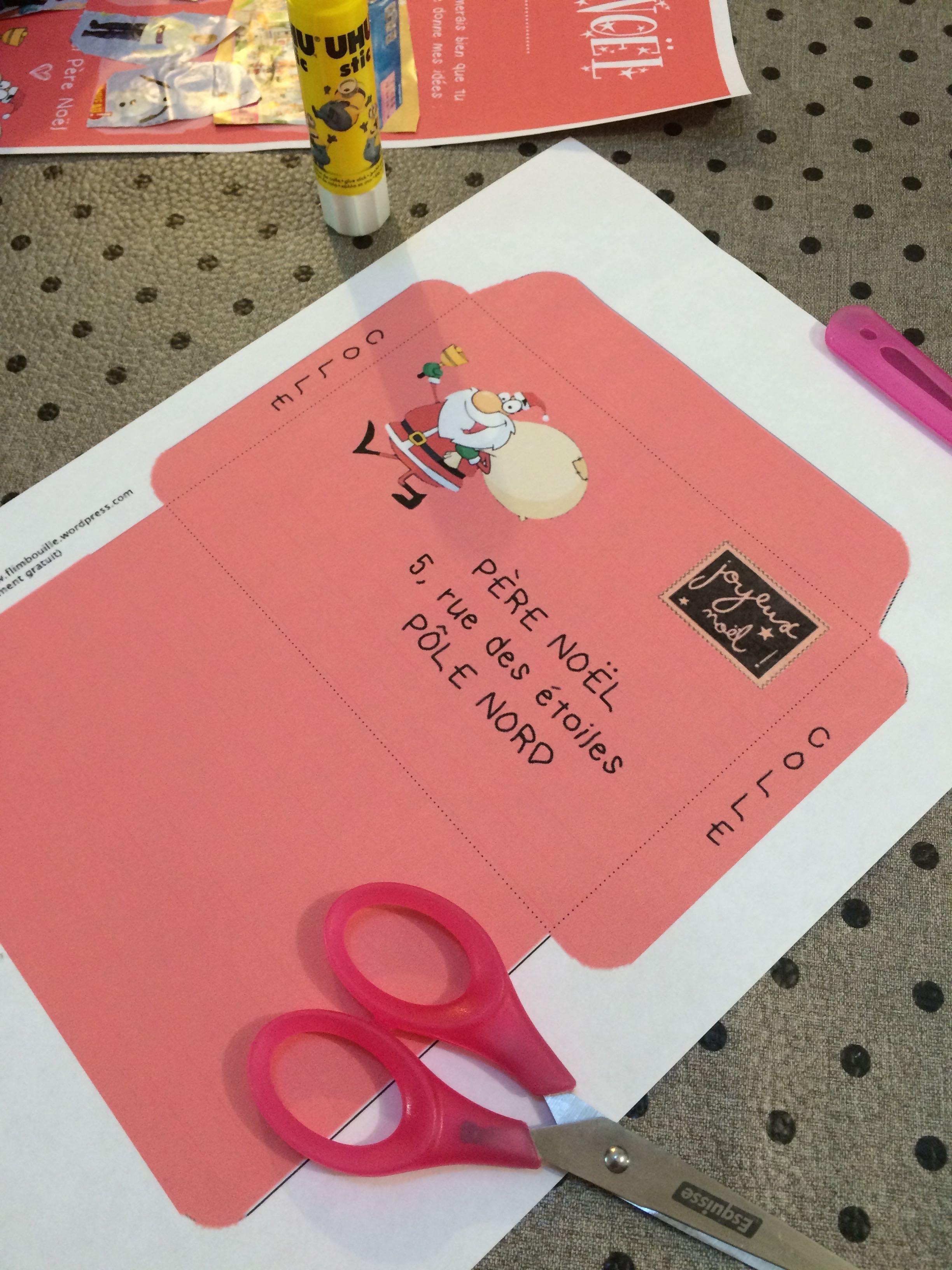 La Lettre Au Père Noël À Imprimer (Free Printable dedans Enveloppe Pere Noel