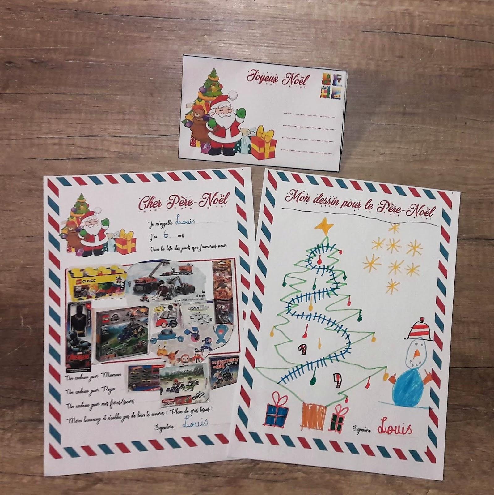 La Lettre Au Père-Noël Et Son Enveloppe À Imprimer - La pour Enveloppe Pere Noel