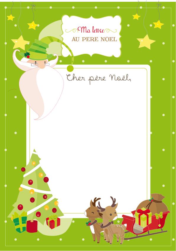 La Lettre Au Père Noël (Goodie !) | Lettre Pere Noel, Pere à Papier À Lettre Pere Noel