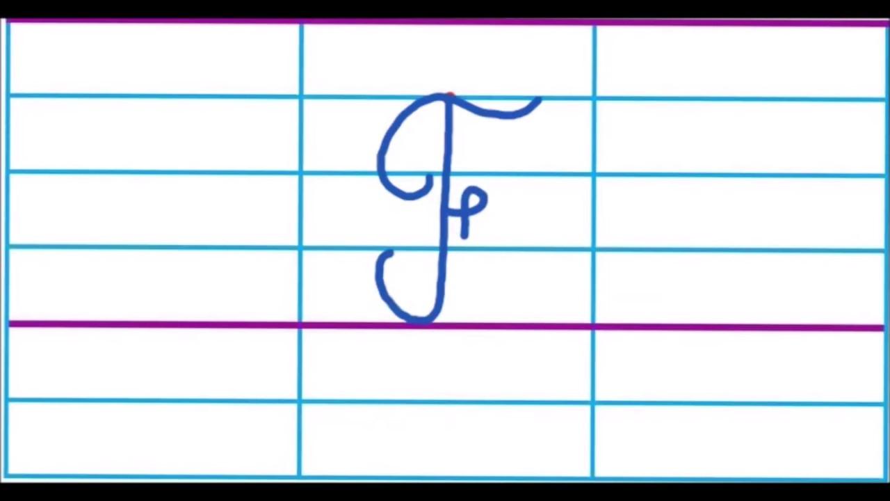 La Lettre F En Majuscule Cursive - à T Majuscule Cursive