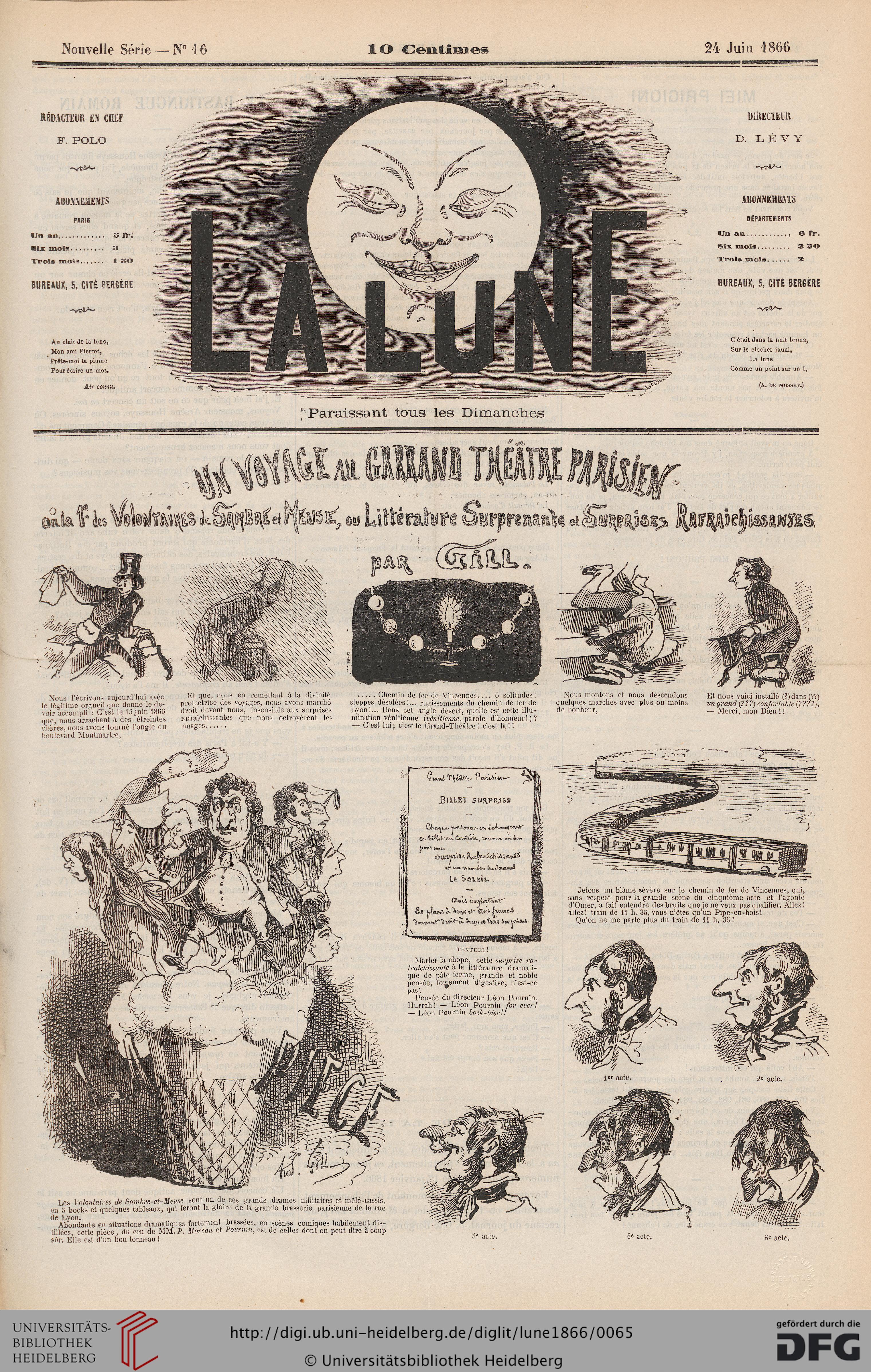La Lune (2.1866) à Au Clair De La Lune Text