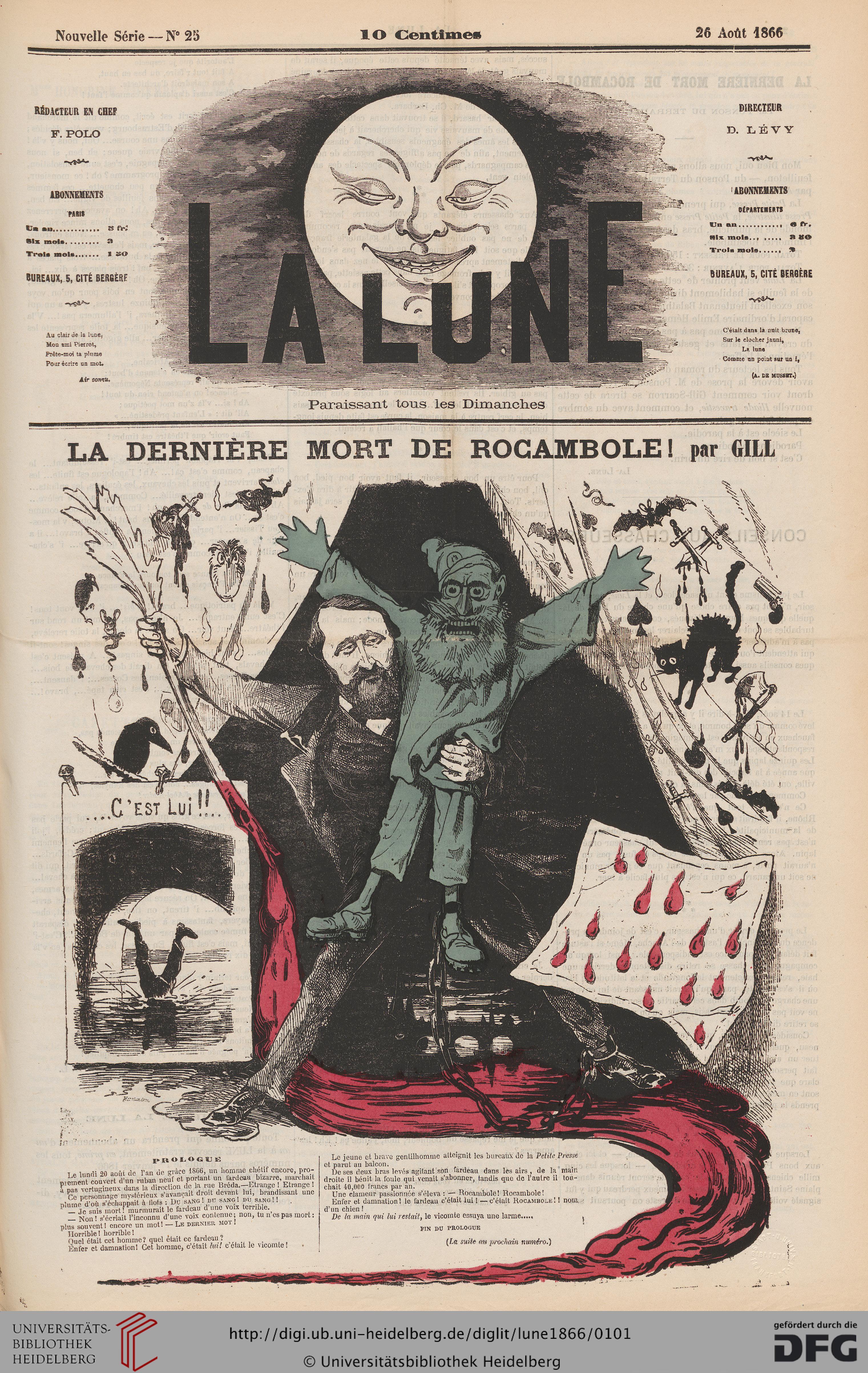 La Lune (2.1866) pour Au Clair De La Lune Text