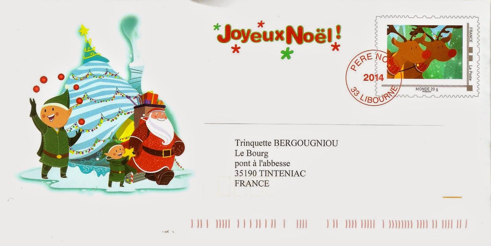 La Marcophilie Navale: La Lettre Du Père Noël 2014 à Enveloppe Pere Noel
