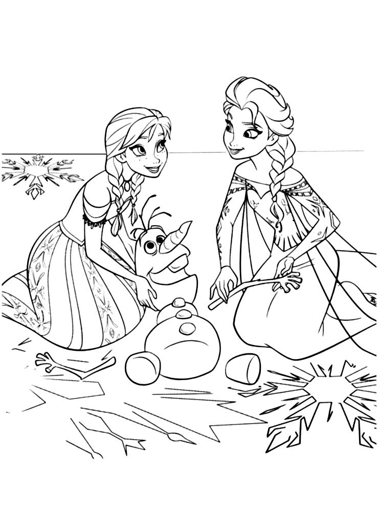 La Reine Des Neiges Anna Elsa - Coloriage La Reine Des tout Coloriage Reine Des Neiges