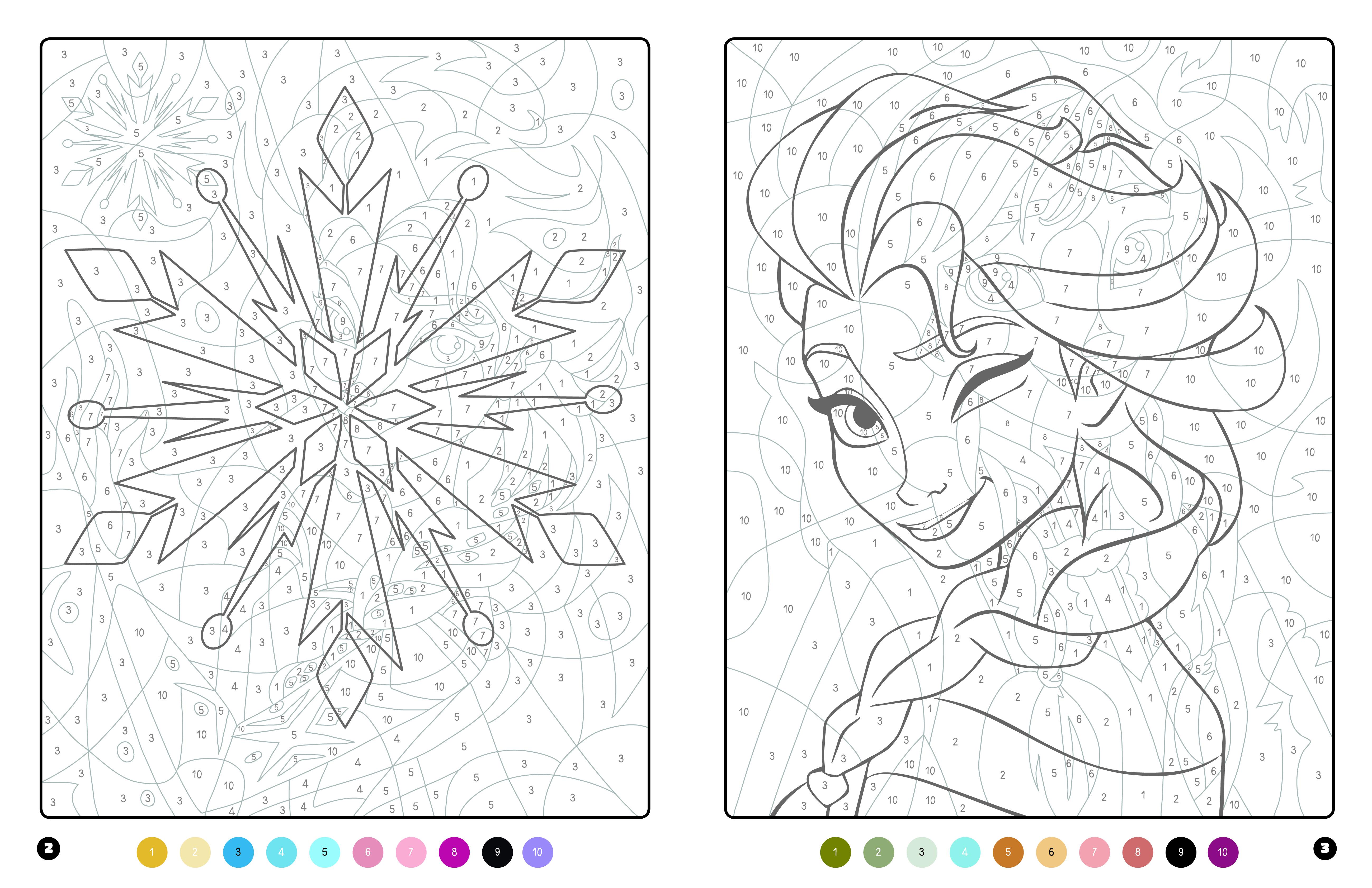 La Reine Des Neiges - Coloriages Magiques - Trompe-L'Oeil à Coloriage Mystere Disney A Imprimer