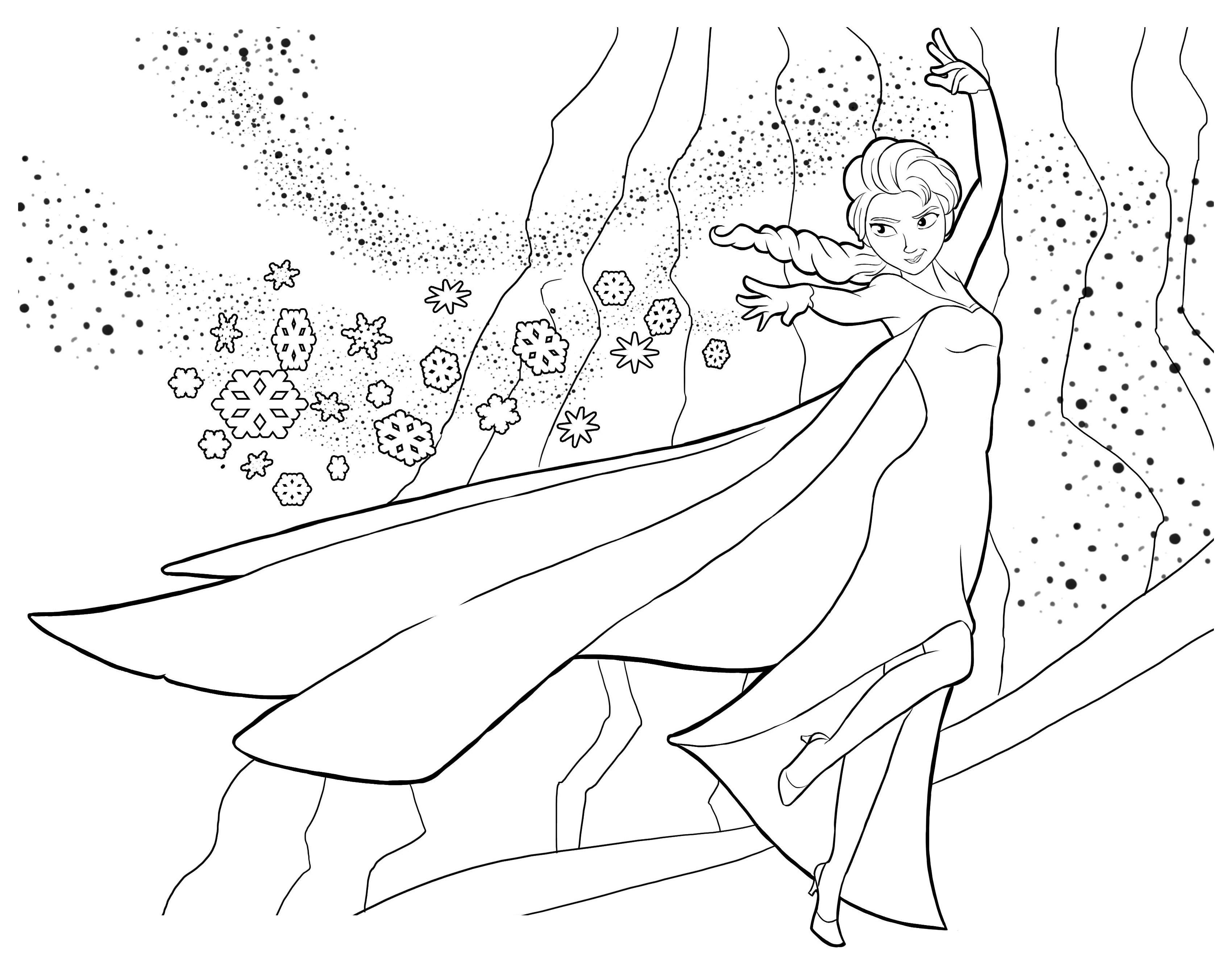 La Reine Des Neiges Elsa 2 - Coloriage La Reine Des Neiges pour Dessin À Imprimer La Reine Des Neiges
