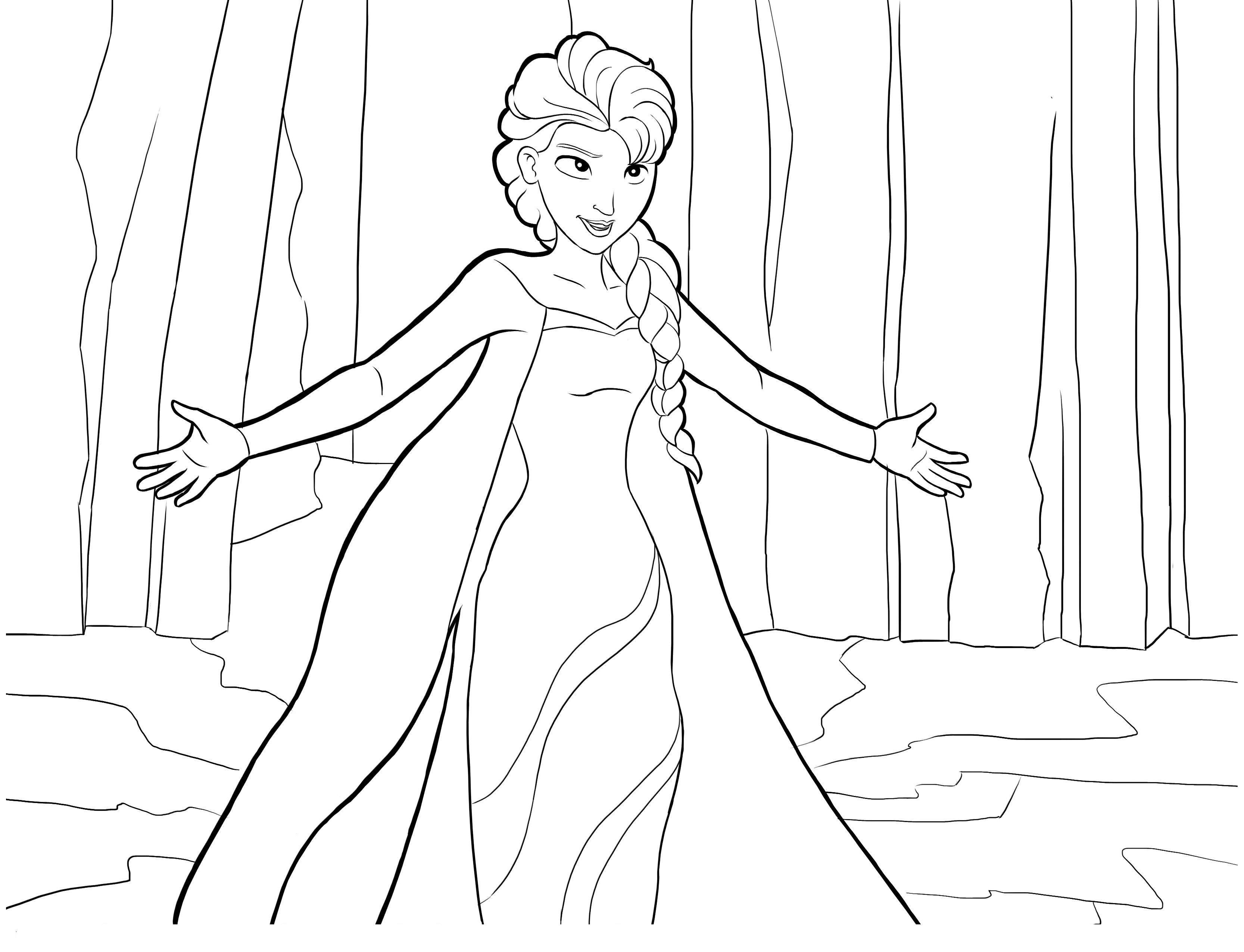 La Reine Des Neiges Elsa - Coloriage La Reine Des Neiges dedans Reine Des Neige A Colorier