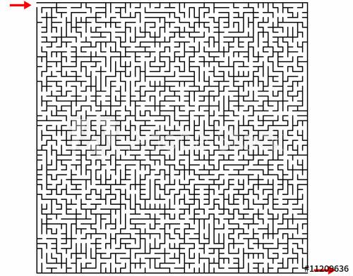 """""""Labyrinthe 55X55"""" Fichier Vectoriel Libre De Droits Sur pour Jeux Labyrinthe Difficiles"""