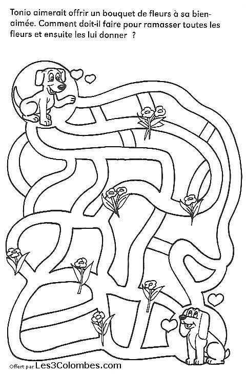 Labyrinthe Enfant 27 - Coloriage En Ligne Gratuit Pour Enfant encequiconcerne Jeux Coloriage Gratuit