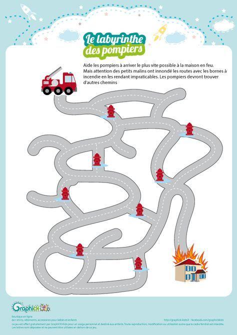 L'Activité Du Mercredi : Le Labyrinthe Des Pompiers tout Jeux De Sam Le Pompier Gratuit