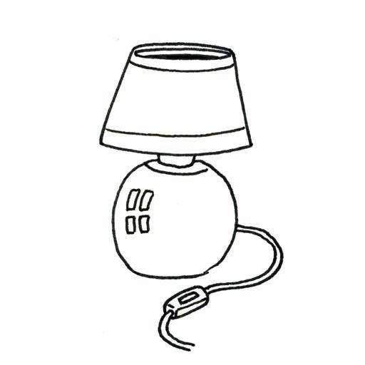 Lampe De Chevet Coloriage - Design En Image pour Coloriage Lampe