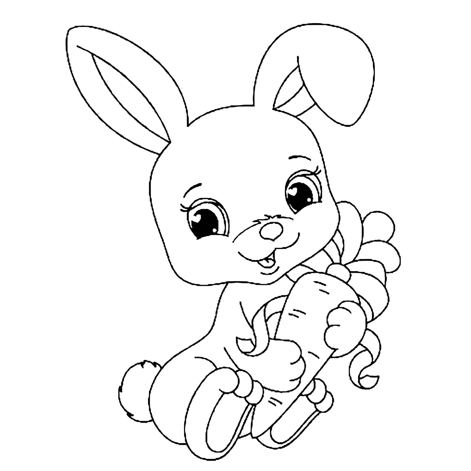 Lapereau - Coloriage De Lapins - Coloriages Pour Enfants dedans Coloriage Lapin A Imprimer Gratuit