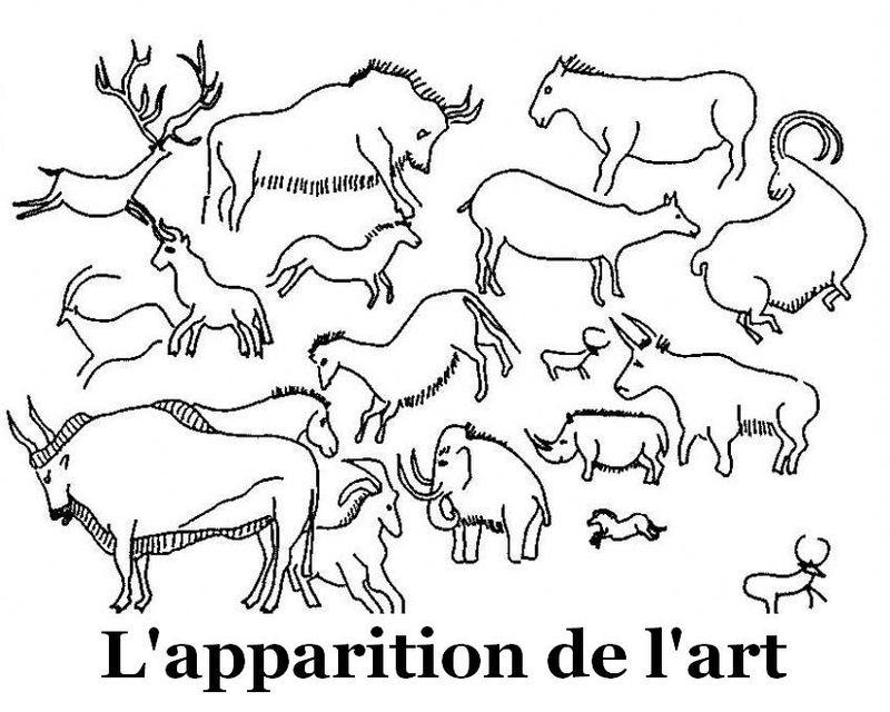 L'Apparition De L'Art À La Préhistoire - Des Documents dedans Dessin Préhistoire