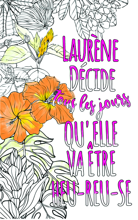 Laurène Est Formidable. Le Livre Personnalisé De Coloriage pour Livre Coloriage Personnalisé
