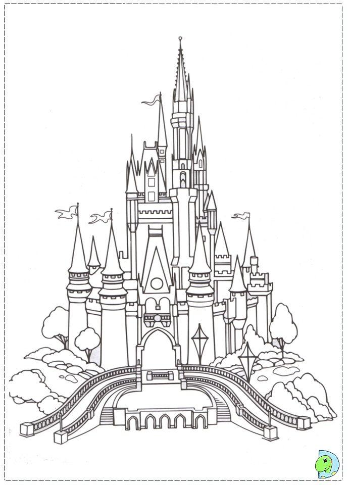 Le Chateau | Coloriage, Pages De Coloriage Disney avec Dessin Chateau Disney