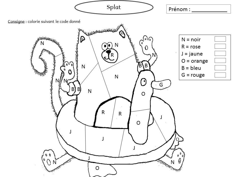 Le Livre De Sapienta: Splat Adore Jardiner ! Exploitation destiné Coloriage Magique De Chat