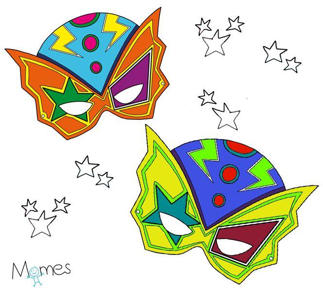 Le Masque De Super-Héros À Colorier | Les Super Héros tout Masque Super Héros A Imprimer