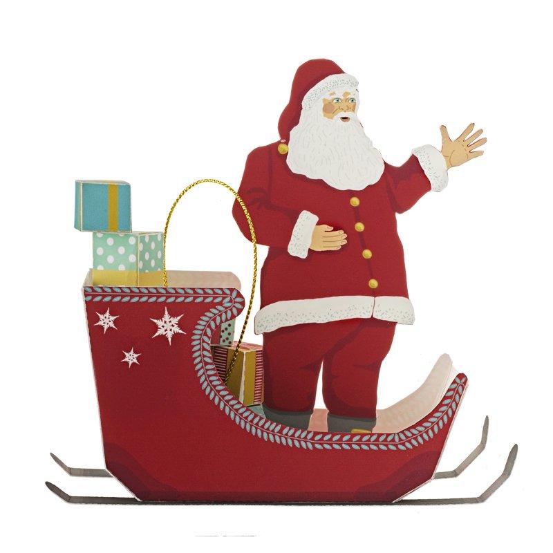 Le Père Noël Et Son Traineau En Paper Toy - Marie Claire serapportantà Traineaux Du Pere Noel