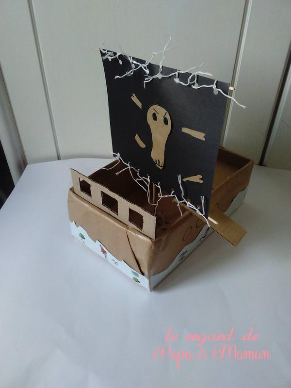 Le Regard De Papa Et Maman: Bateau De Pirate À Fabriquer intérieur Fabriquer Un Bateau Pirate En Carton