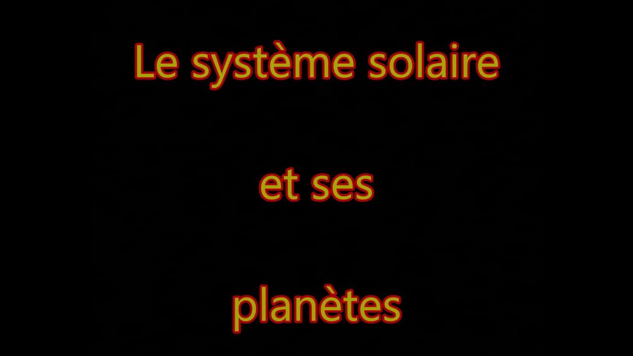 Le Système Solaire Et Ses Planètes - intérieur Syst?Me Solaire