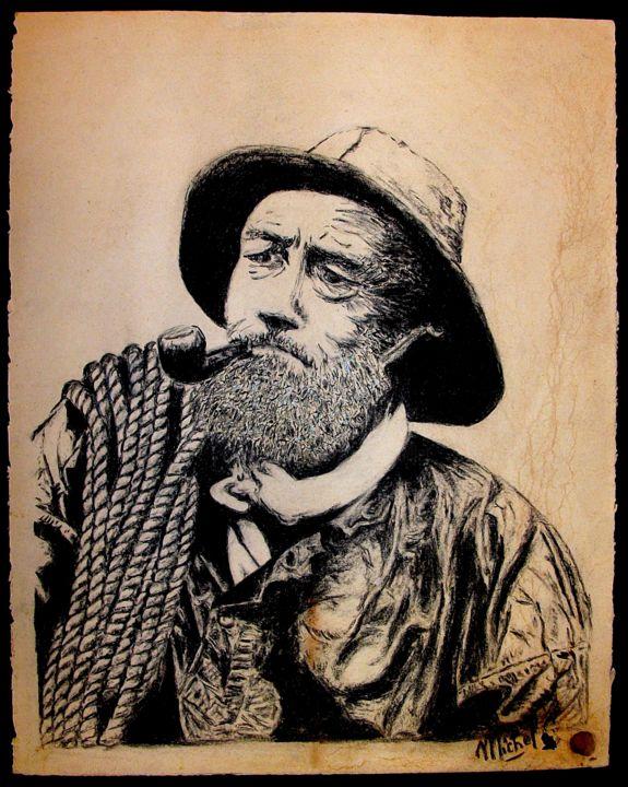 Le Vieux Pêcheur (Pastels Portraits) encequiconcerne Dessin De Vieux Monsieur
