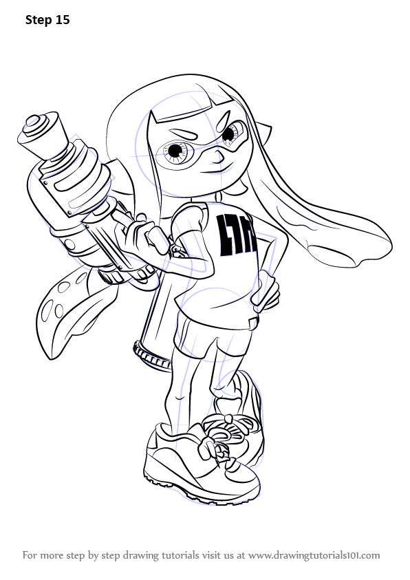 Learn How To Draw Inkling Female From Splatoon (Splatoon pour Coloriage Splatoon