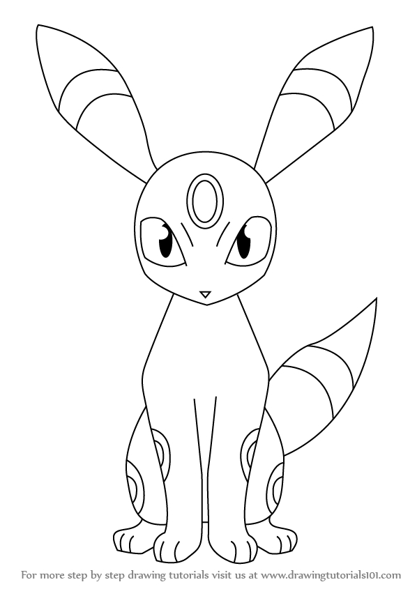Learn How To Draw Umbreon From Pokemon (Pokemon) Step By tout Noctali Pokemone Coloriage