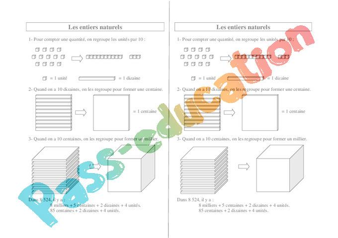 Leçon, Trace Écrite Les Nombres Entiers : Ce2 - Cycle 2 à Nombre Pair Et Impair Ce2 A Colorier