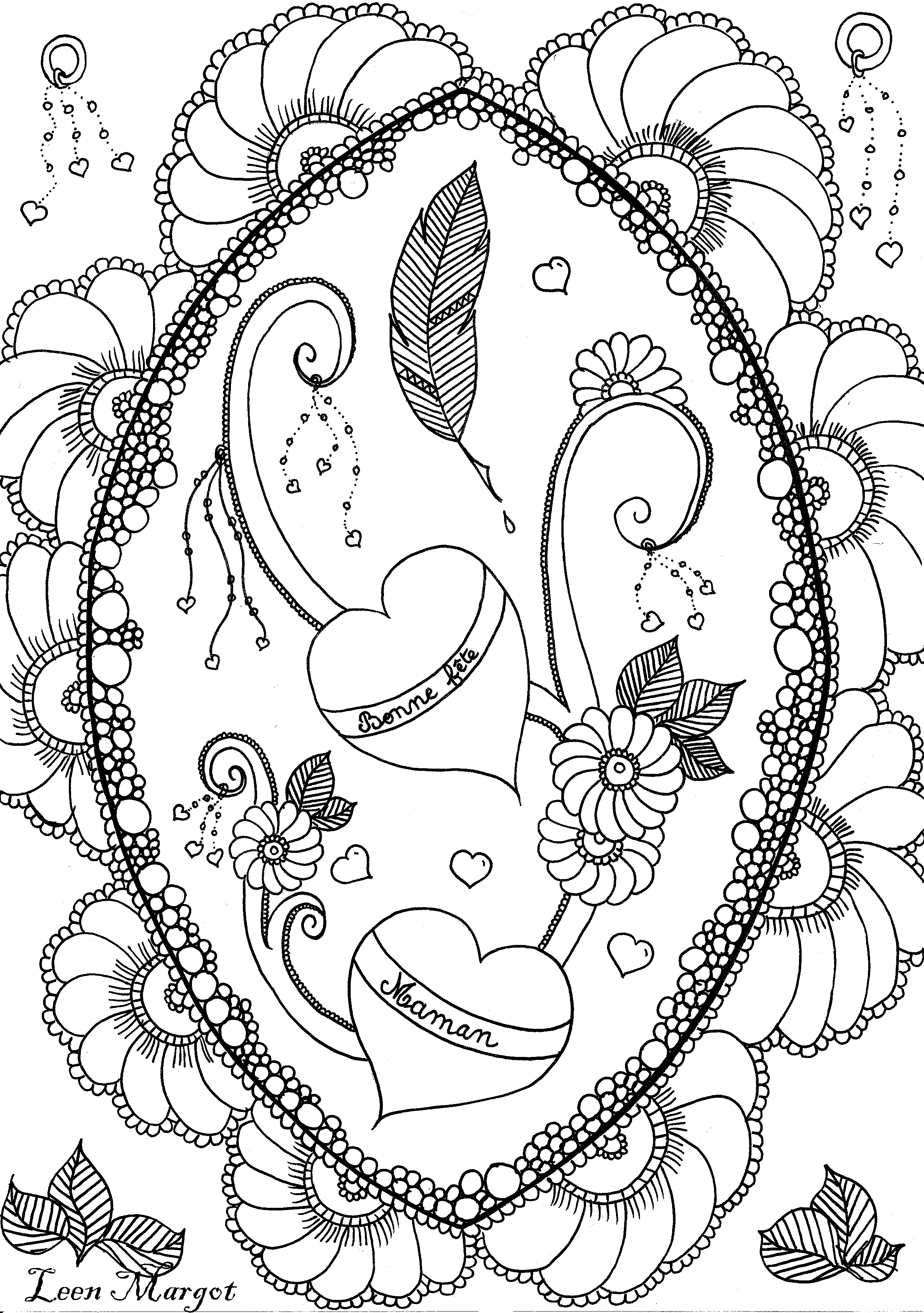 Leen Margot Fete Des Meres Copie - Fleurs Et Végétation pour Mandala Fête Des Mères