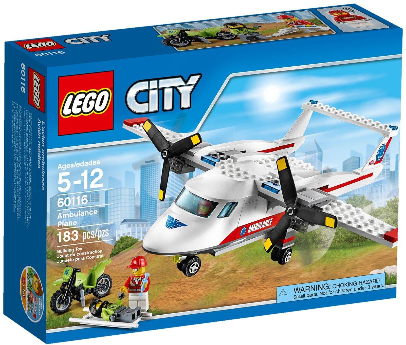 Lego City 60116 L'Avion De Secours | Lego City, Lego City dedans Lego Avion De Ligne