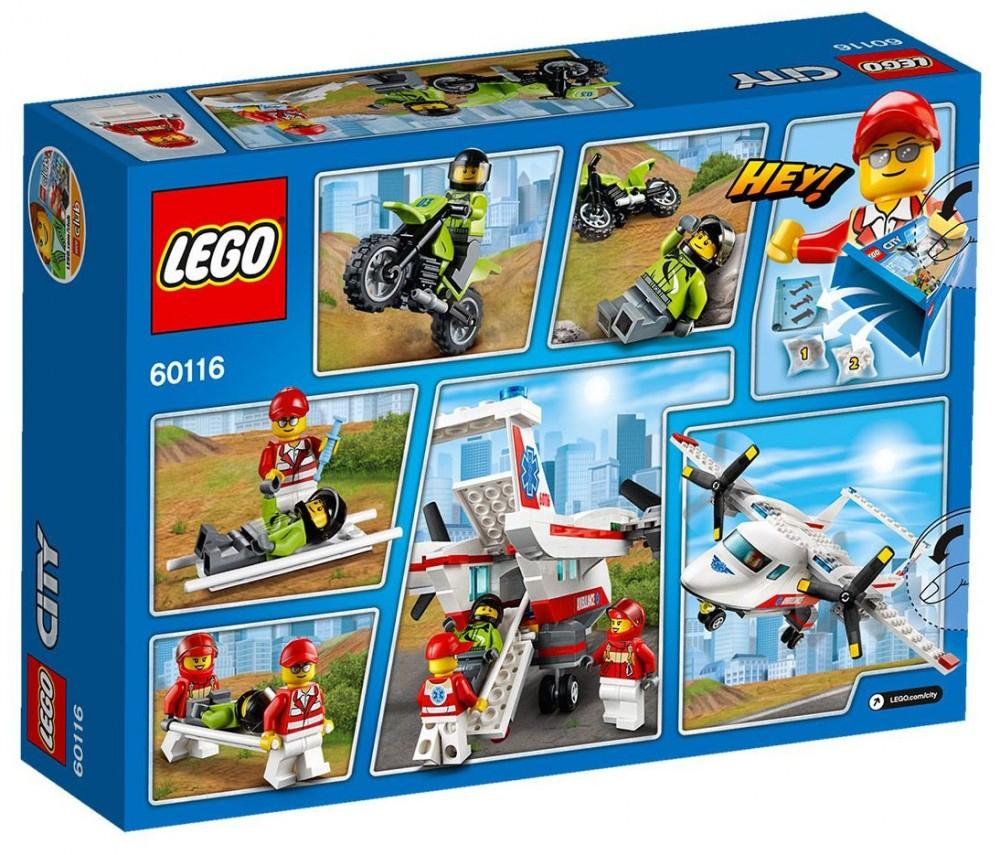 Lego City 60116 Pas Cher, L'Avion De Secours encequiconcerne Lego Avion De Ligne