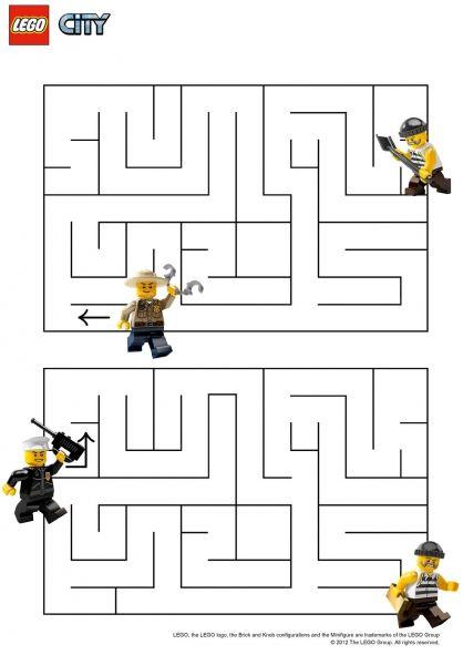 Lego City : Le Labyrinthe | Coloriage Lego, Jeux Coloriage pour Lego City Dessin Animé