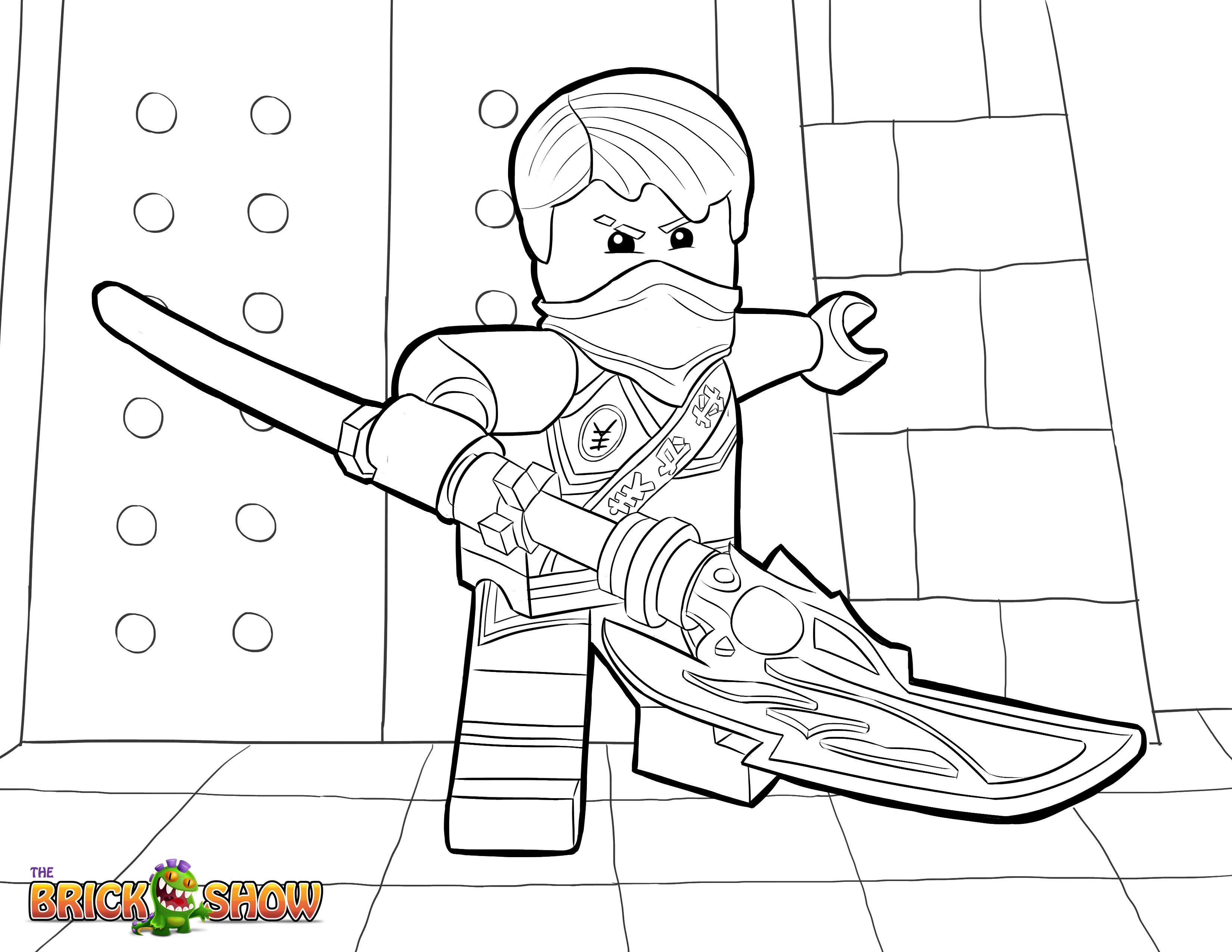 Lego Ninjago Coloring Page, Lego Lego Ninjago Jay intérieur Coloriage Ninjago