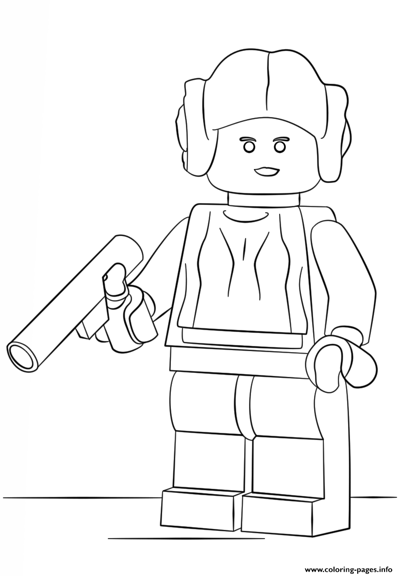 Lego Princess Leia Coloring Pages Printable à Coloriage Lego Star Wars