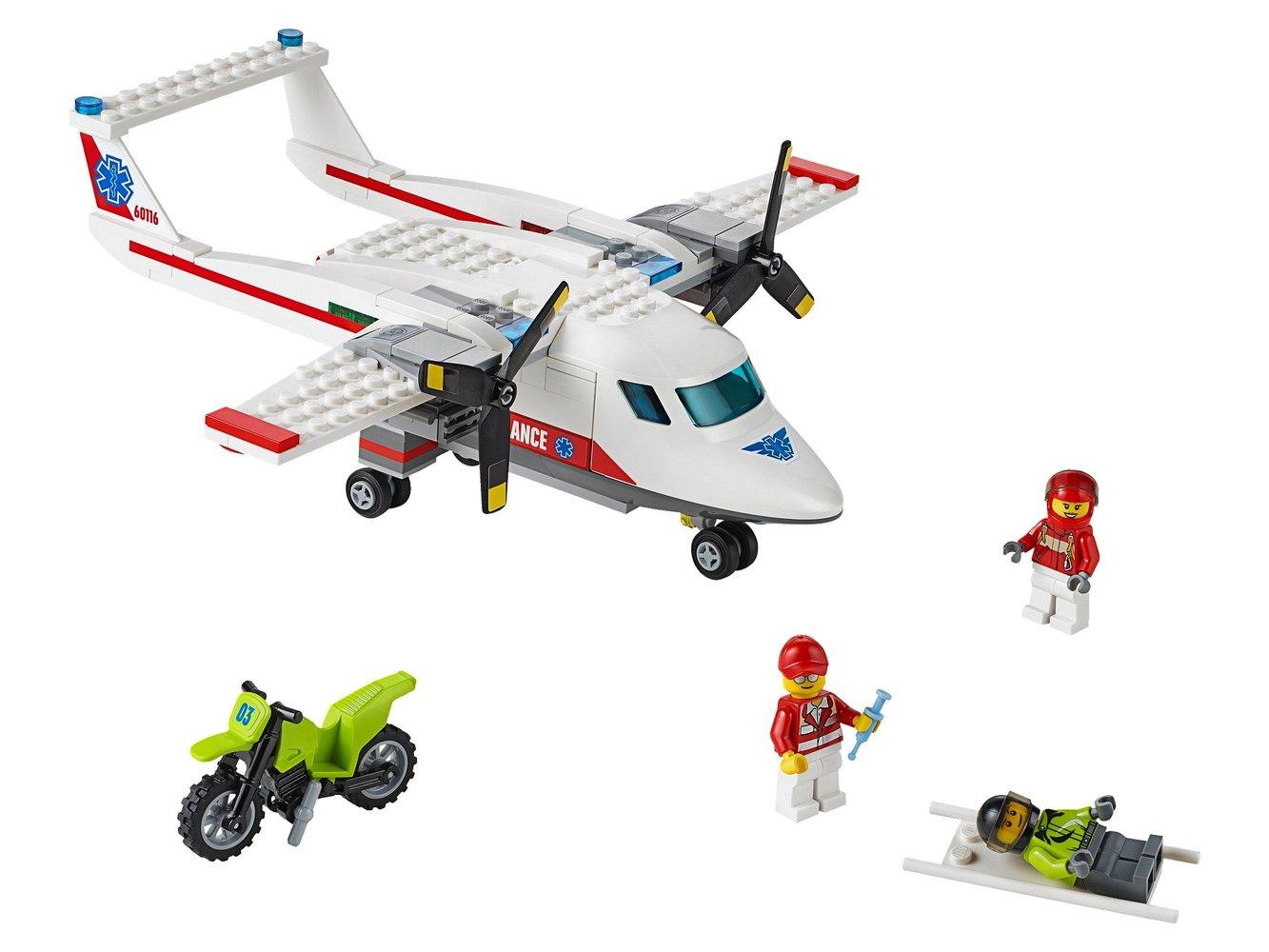 Lego Town 60116 Pas Cher, L'Avion De Secours avec Lego Avion De Ligne