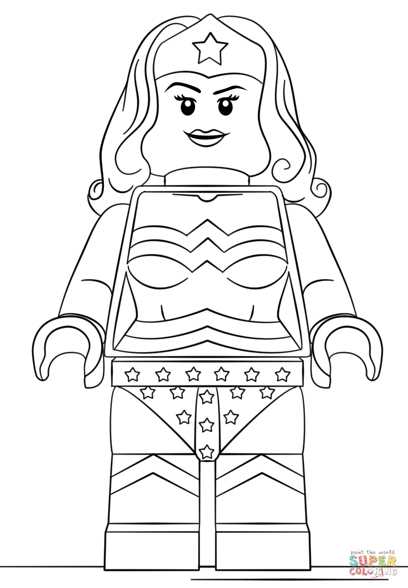 Lego Wonder Woman Coloring Page | Free Printable Coloring ...